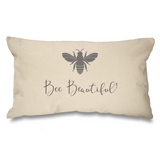 Grey Bee Range. Natural Long Cushion