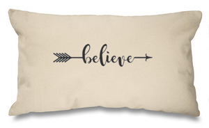 Believe. Natural Long Cushion