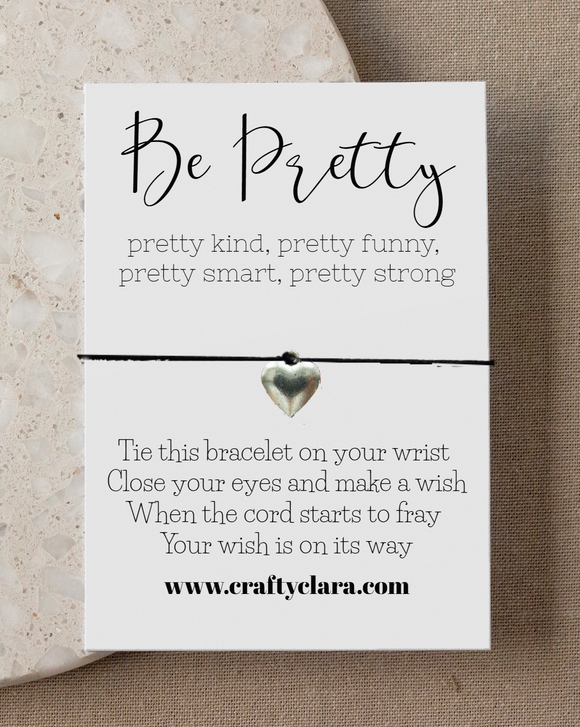 Be Pretty Heart Bracelet