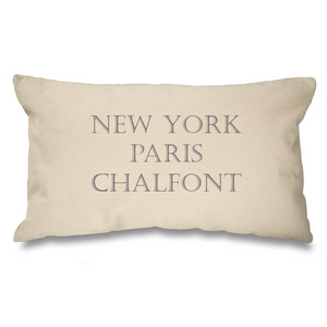 Bespoke Place name, New York, Paris..... Natural Long Cushion