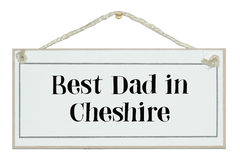 Best Dad in...! Sign