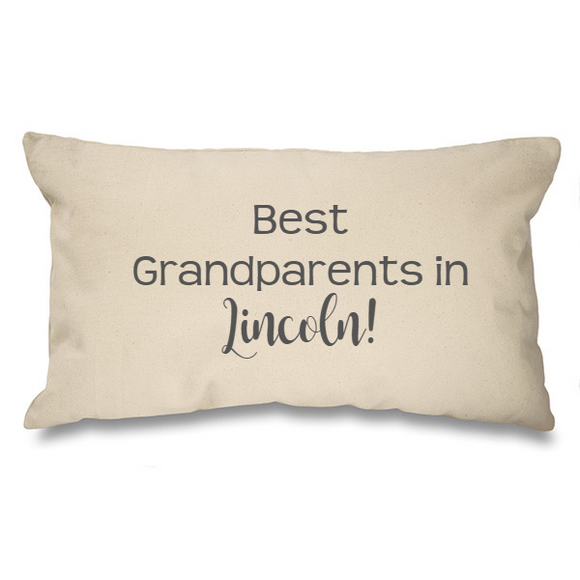 Best Grandparents in.... Bespoke Natural Long Cushion