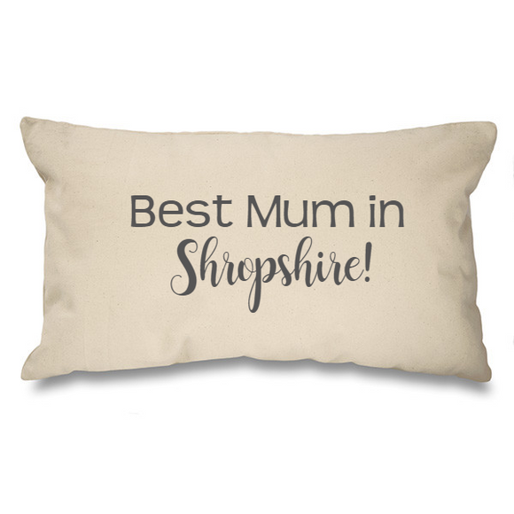 Best Mum in.... Bespoke Natural Long Cushion