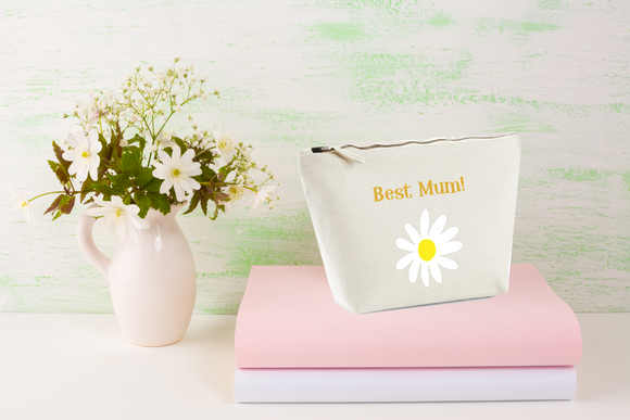 Best Mum & Daisy. Natural Make Up Bag