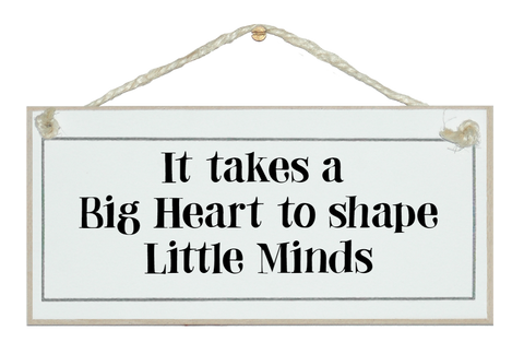 It takes a big heart...
