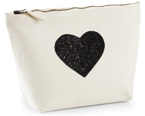 Heart design Natural make up bag