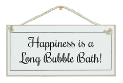 ...Long bubble bath!