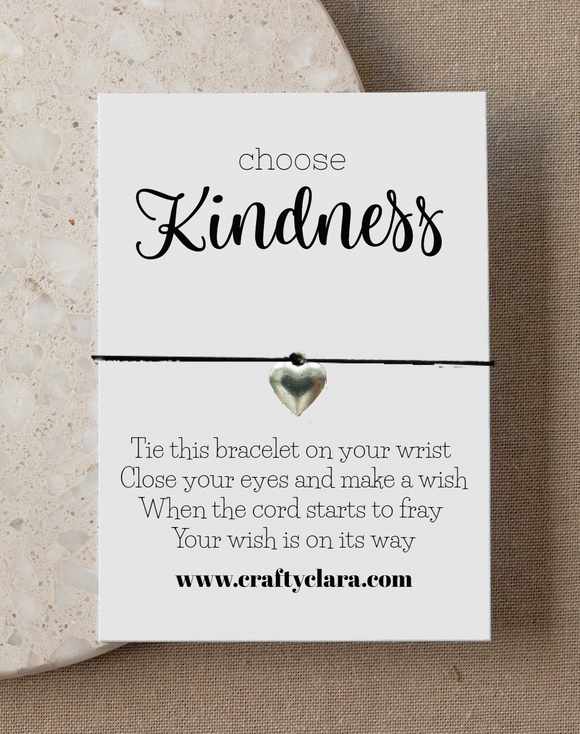 Choose kindness Heart Bracelet