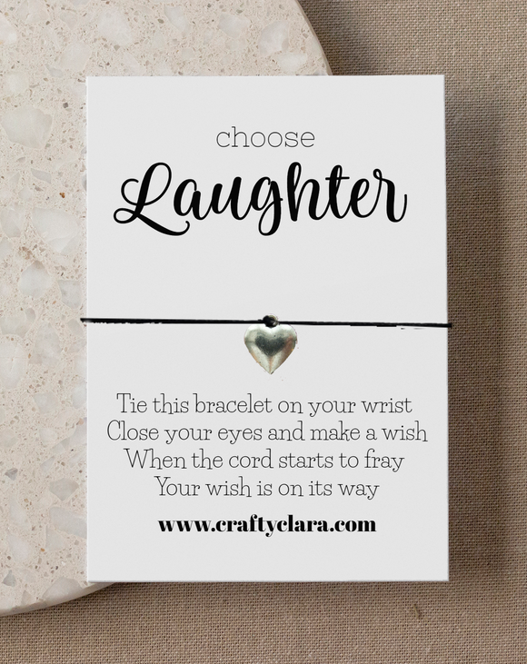 Choose Laughter Heart Bracelet