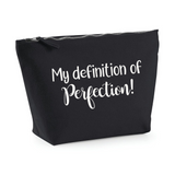 Definition of perfection. Make up bag