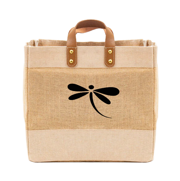 Dragonfly Luxury Natural Jute Handbag
