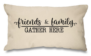 Family and friends gather here. Natural Long Cushion