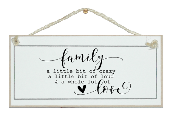 Family...lot of love farmhouse sign.