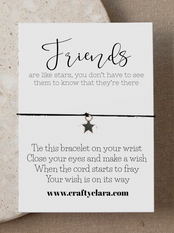 Friends are like stars...Star Bracelet