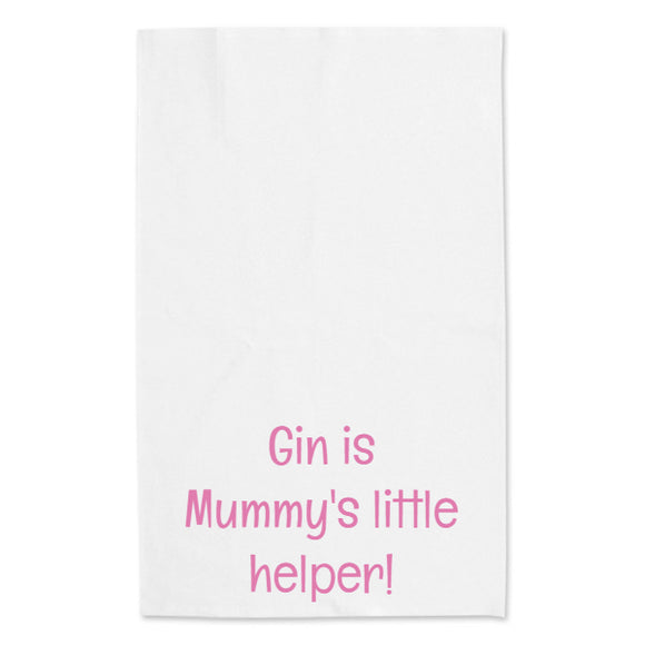 Gin, mummy's helper... tea towel