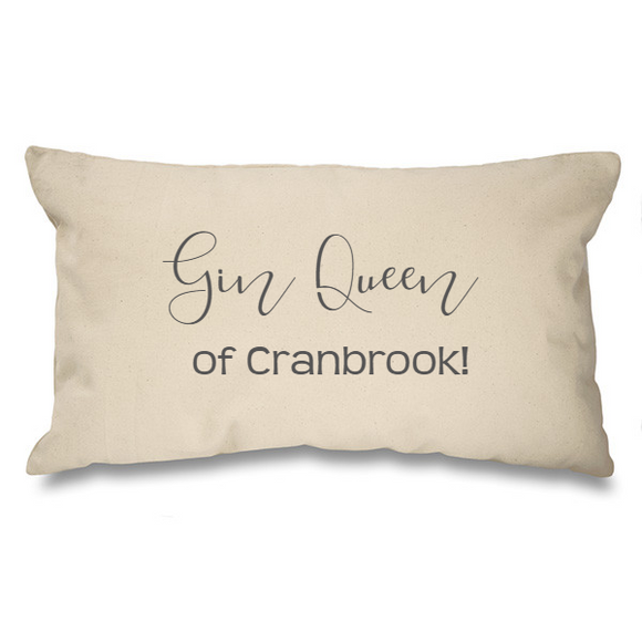 Gin Queen of.... Natural Long Cushion