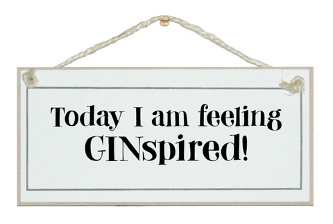 I'm feeling GINspired!
