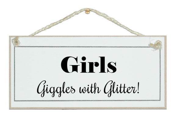 Girls, giggles with glitter