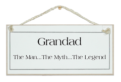 Grandad legend Sign