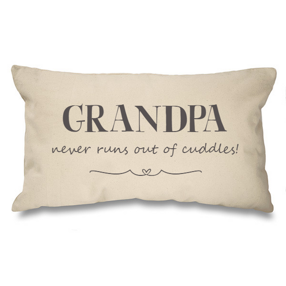 Grandpa...cuddles. Natural Long Cushion