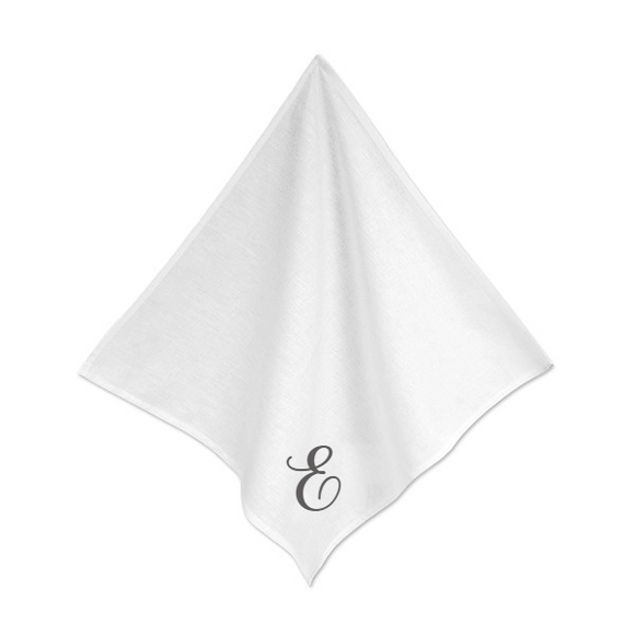 Personalised White Linen Napkins