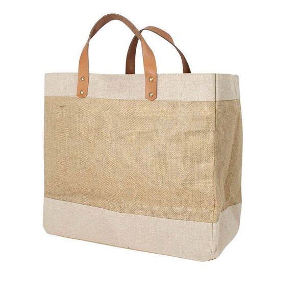 Plain Luxury Jute Shopper