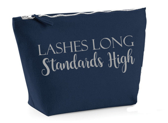 Lashes Long...Navy make up bag