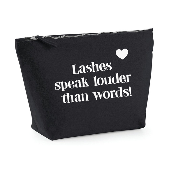 Lashes speak louder...Black make up bag