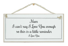 Mum, little reminder...sign