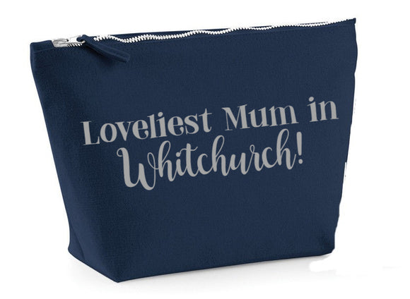 Loveliest Mum in...personalised place/area make up bag