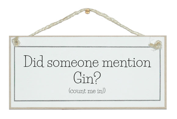 Did someone mention Gin!