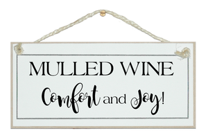 Mulled wine...sign