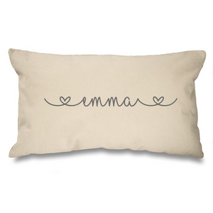 Personalised name. Natural Long Cushion