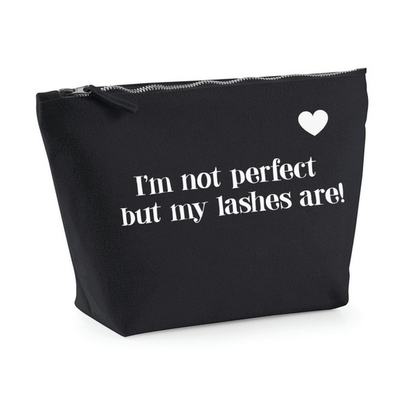 I'm not perfect...Black make up bag