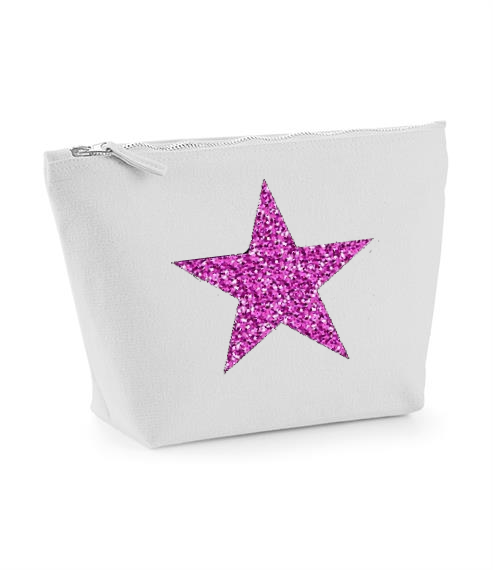 Star Design. Grey Make Up Bag