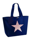 Rose Gold Star Design Marina Bags