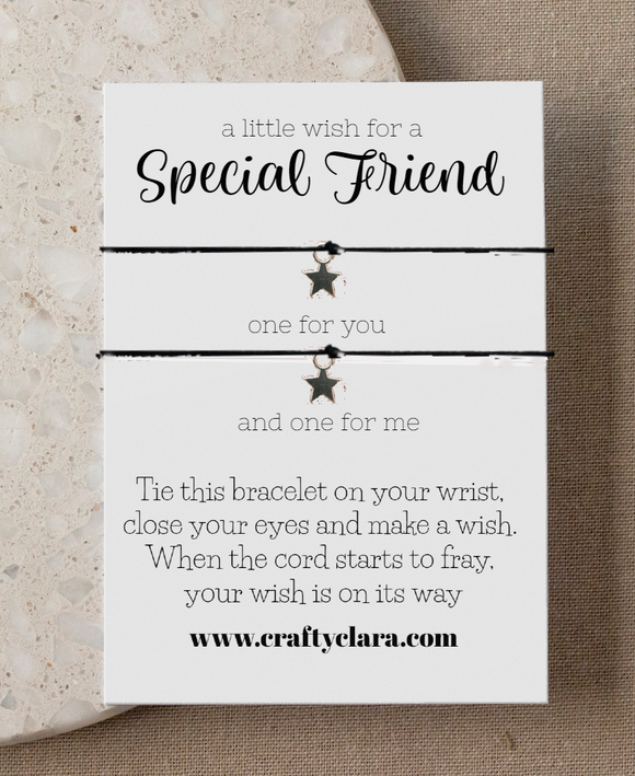Special Friend double wish Star Bracelet