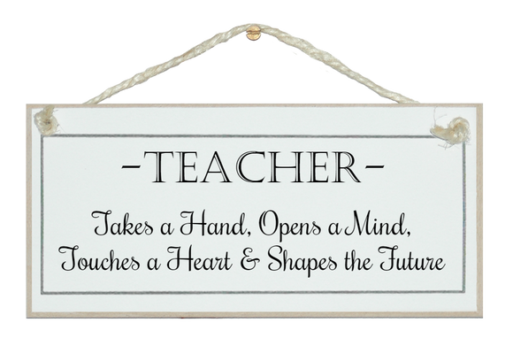 A teacher takes a hand...
