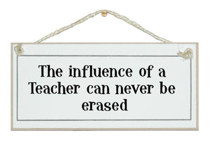 Influence of a teacher...