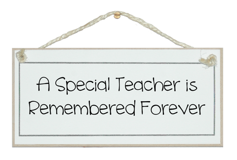 Special teacher remembered...