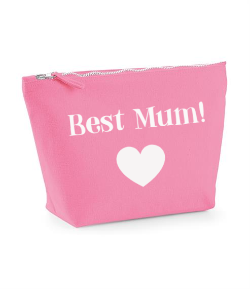 Best Mum & heart design. Make Up Bag