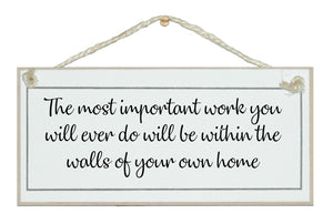 ...walls within your own home