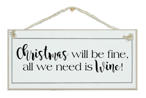 Christmas fine..wine sign