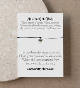 You've Got This. Heart Bracelet