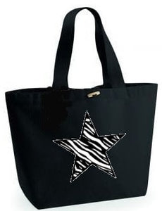 Zebra Star Design. Marina Bag