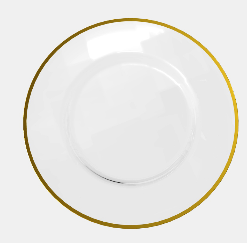 Glass Charger Plates Rental