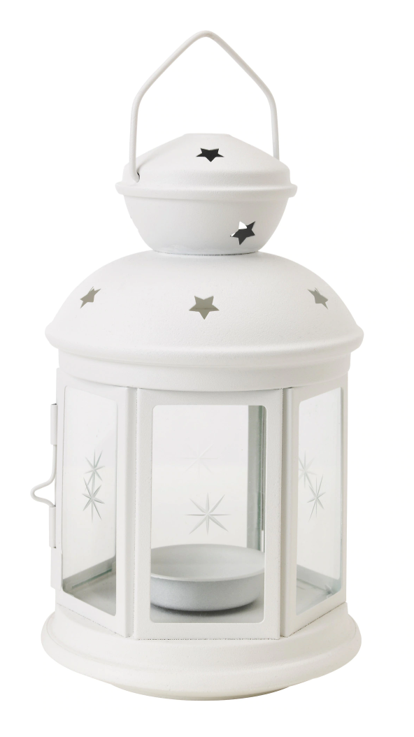 Tealight Candle Holder Lantern - White