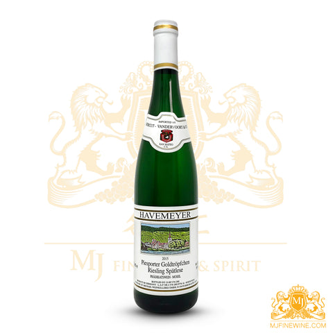 Havemeyer Piesporter Goldtropfchen 2015 Riesling Spatlese 750ml