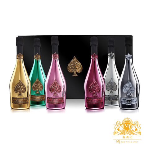 Armand de Brignac Ace of Spades LA Collection 6 Bottles Limited Set with Gift Box 750ml