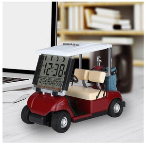 Caiton LCD display mini golf cart clock for golf Fans great gift for golfers race souvenir novelty golf gifts